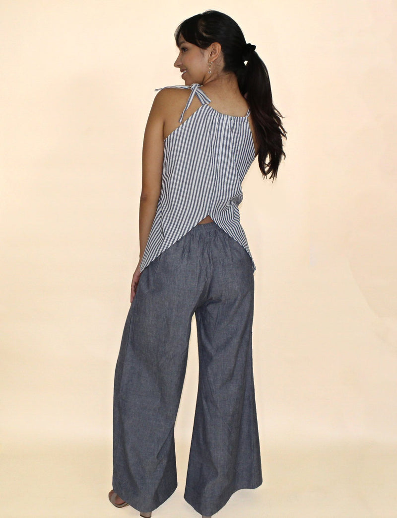 Passion Lilie Chambray Pants Pants Passion Lilie