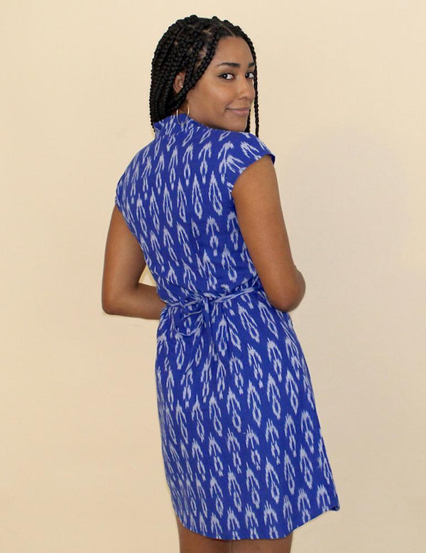 Passion Lilie Cobalt Blue Button Dress Dress Passion Lilie