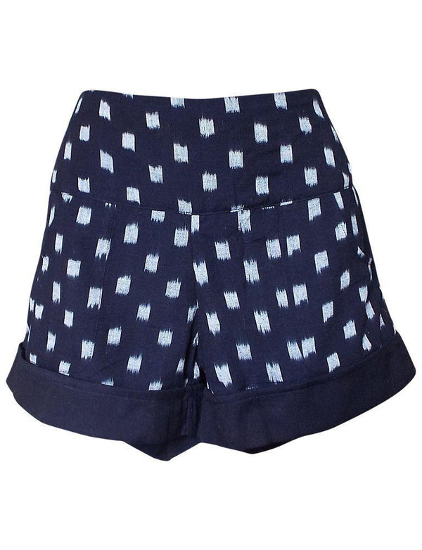 Passion Lilie Dark Blue Ikat Shorts Pants Passion Lilie