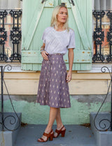 Passion Lilie Grape Chambray Midi Skirt Skirts Passion Lilie-14313572040767