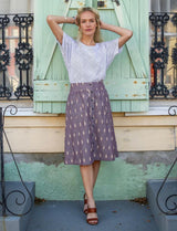 Passion Lilie Grape Chambray Midi Skirt Skirts Passion Lilie-14313568370751