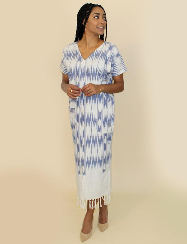 Passion Lilie Neoma Blue Kaftan Dresses Passion Lilie