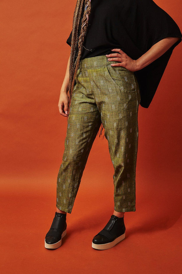 Passion Lilie Olive Crop Pants Passion Lilie