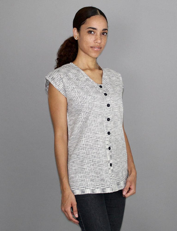 Passion Lilie Timeless Grey Button Shirt Top Passion Lilie