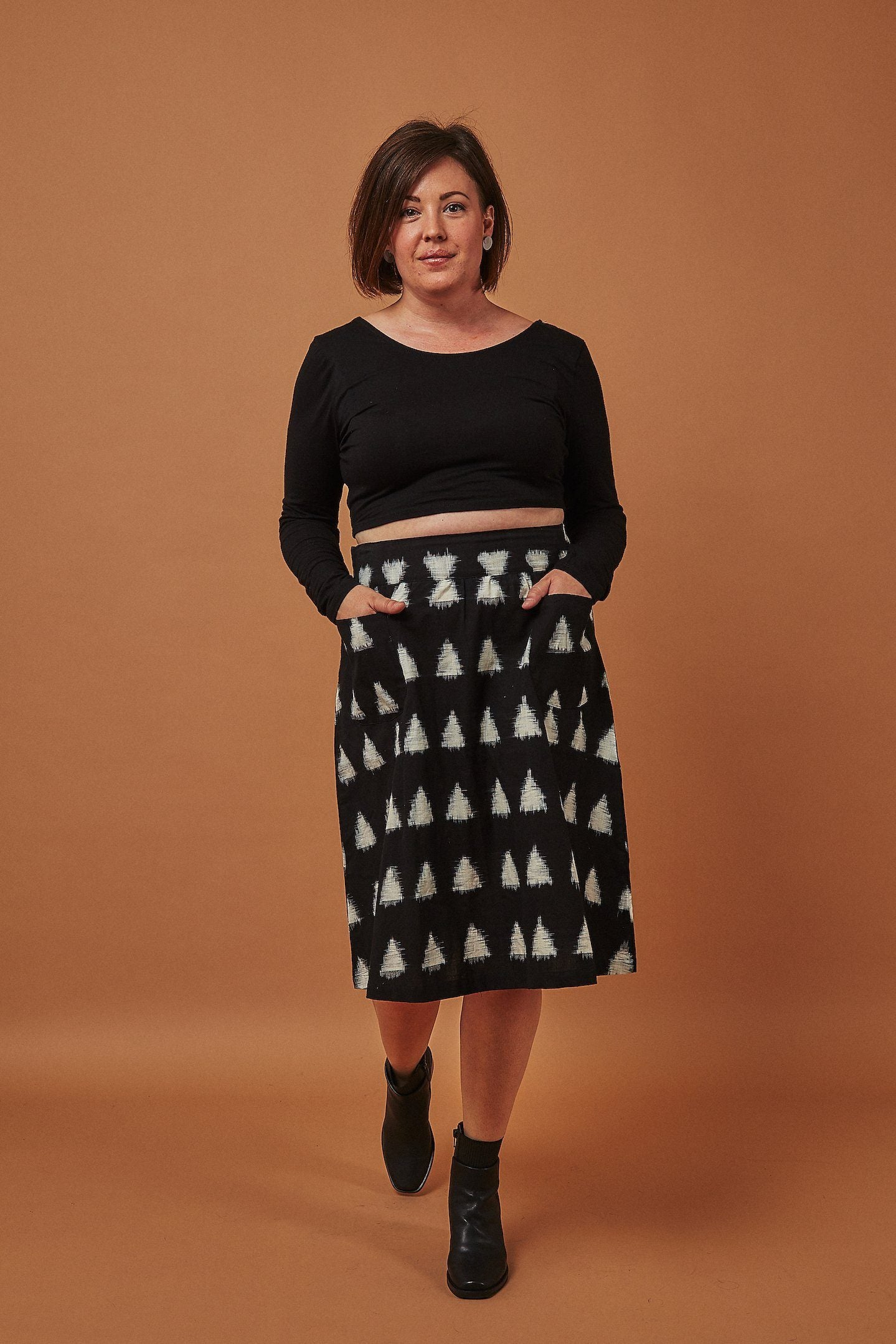 Passion Lilie Triangles Midi Skirt Skirts Passion Lilie