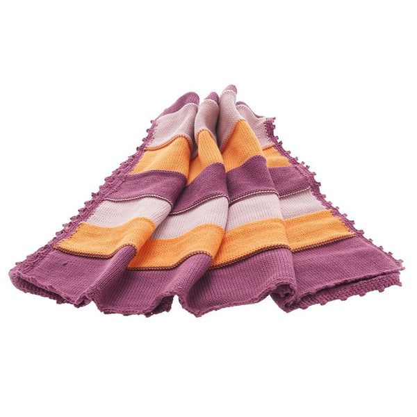 Pebble Organic Baby Blanket - Soft Purple Pebble