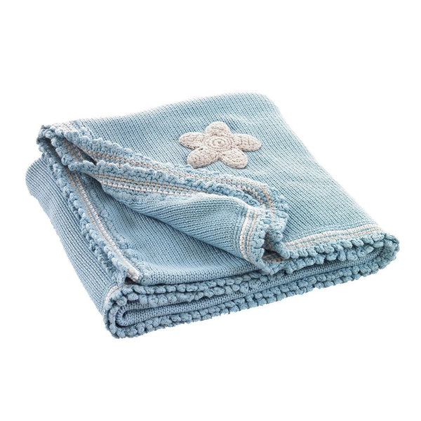 Pebble Organic Blue Baby Blanket Pebble