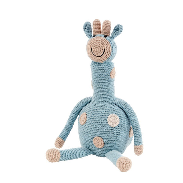 Pebble Organic Large Giraffe - Duck Egg Blue Pebble