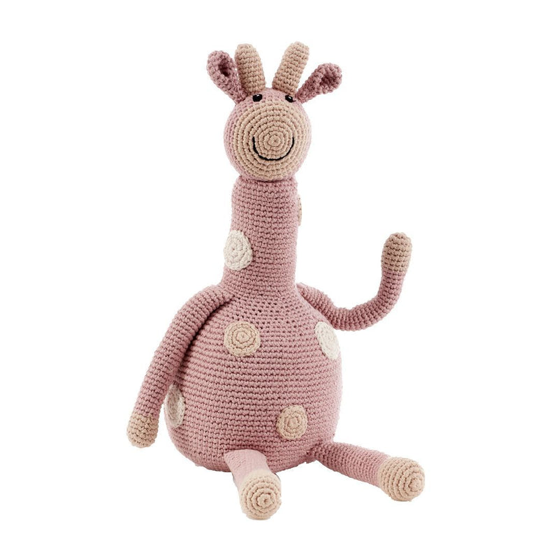 Pebble Organic Large Giraffe - Dusky Pink Pebble