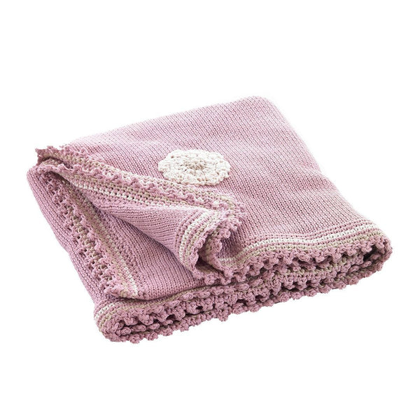 Pebble Organic Pink Baby Blanket Pebble