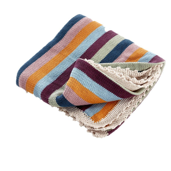 Pebble Organic Rainbow Baby Blanket Pebble