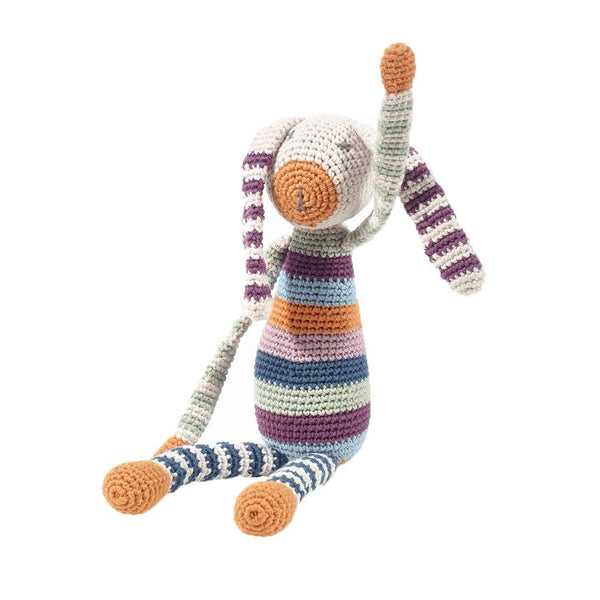 Pebble Organic Rainbow Bunny Rattle Pebble