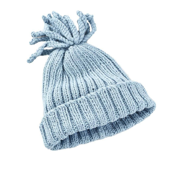 Pebble Organic Ribbed Baby Hat - Duck Egg Blue Pebble