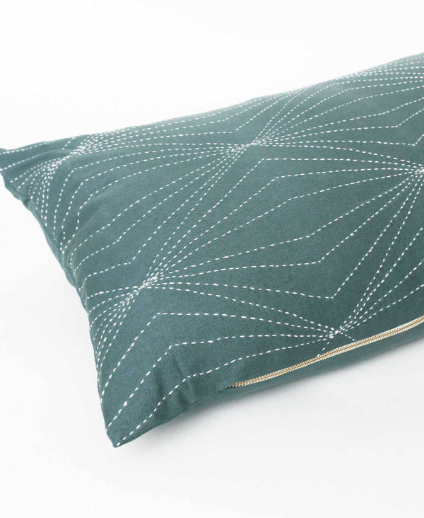 Anchal Prism Lumbar Pillow - Spruce