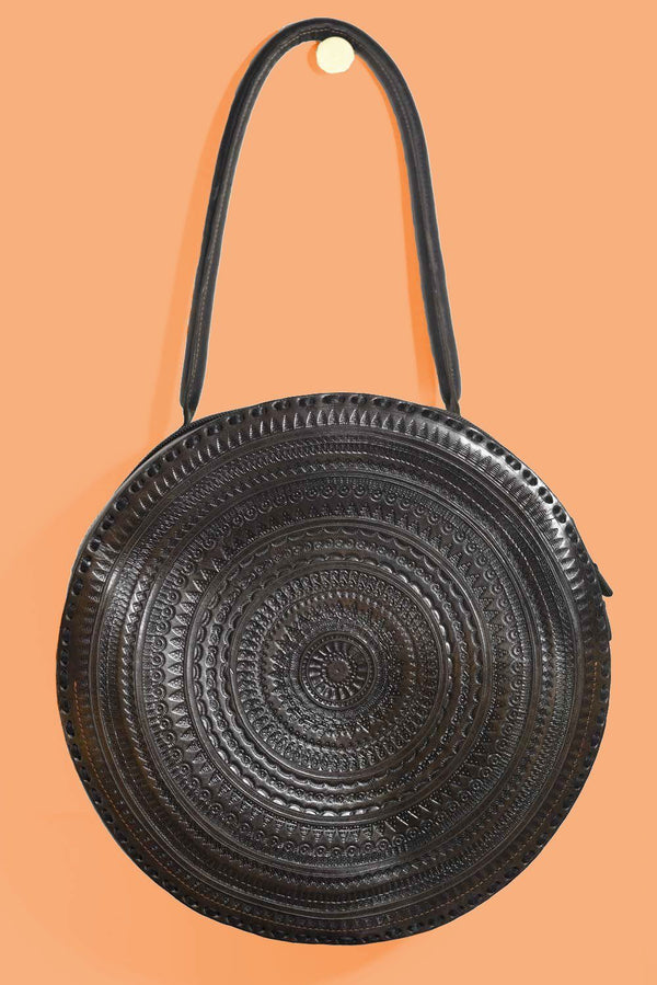 Purse & Clutch Embossed Circle Shoulder Bag Purse Purse & Clutch