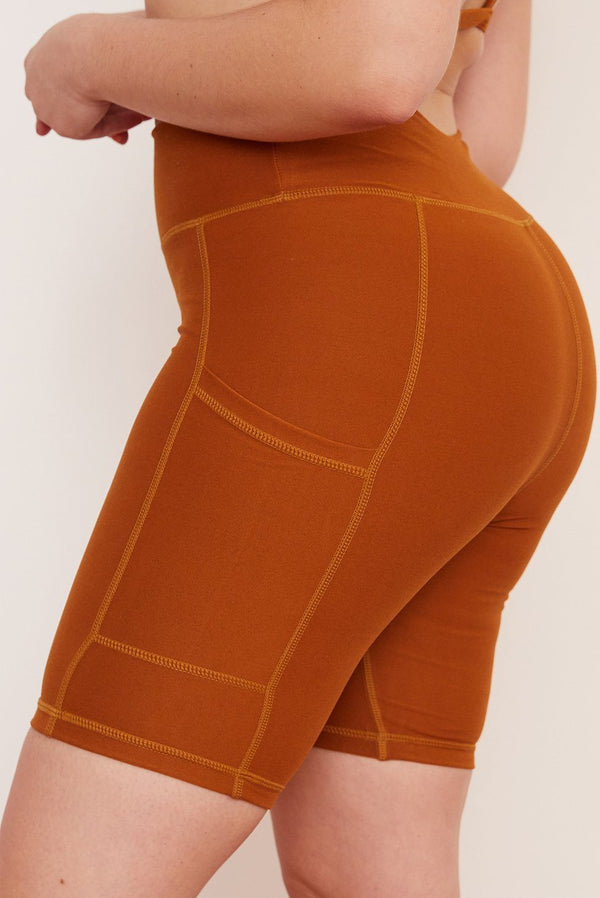 Recycled Bike Short with Pockets - Turmeric Bike Shorts Wolven