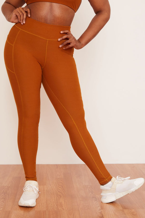 Recycled Legging with Pockets- Turmeric Legging Wolven