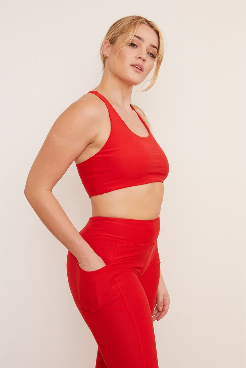 Recycled Yoga Top - Cayenne Tops Wolven