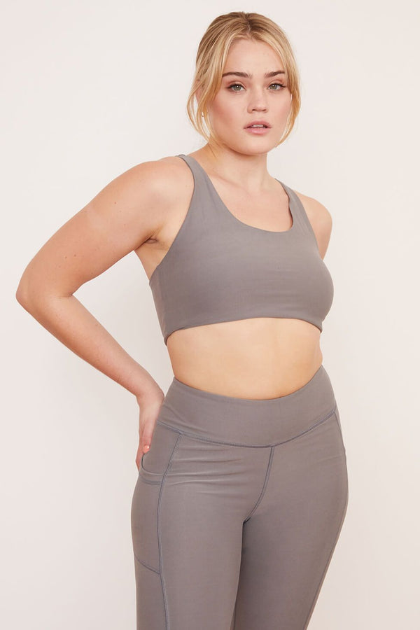 Recycled Yoga Top - Wolf Gray Tops Wolven