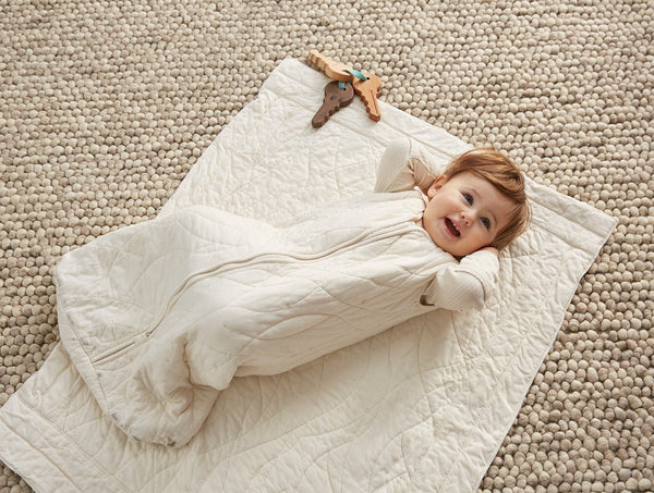 Remi Quilted Baby Blanket - Undyed Baby Coyuchi