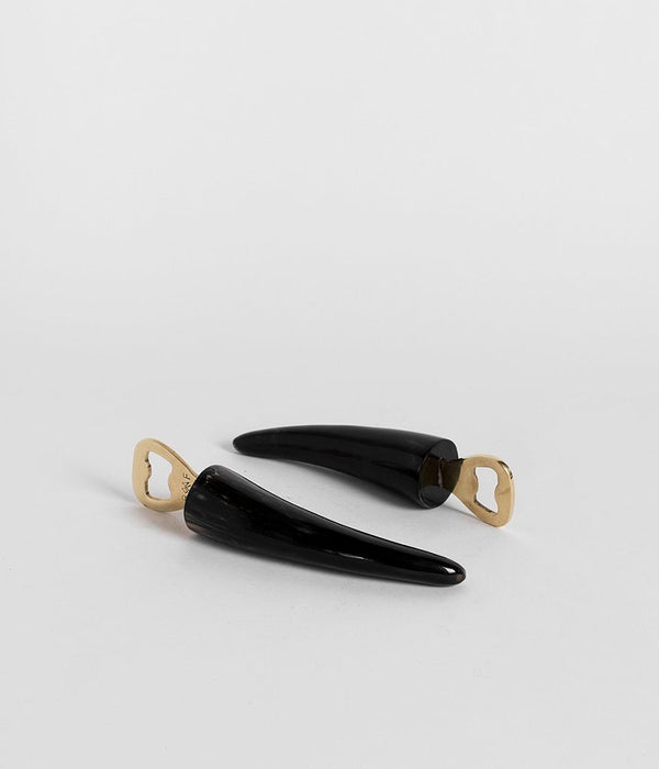 Rose & Fitzgerald Ankole Horn & Pure Brass Bottle Openers Rose & Fitzgerald Dark Horn