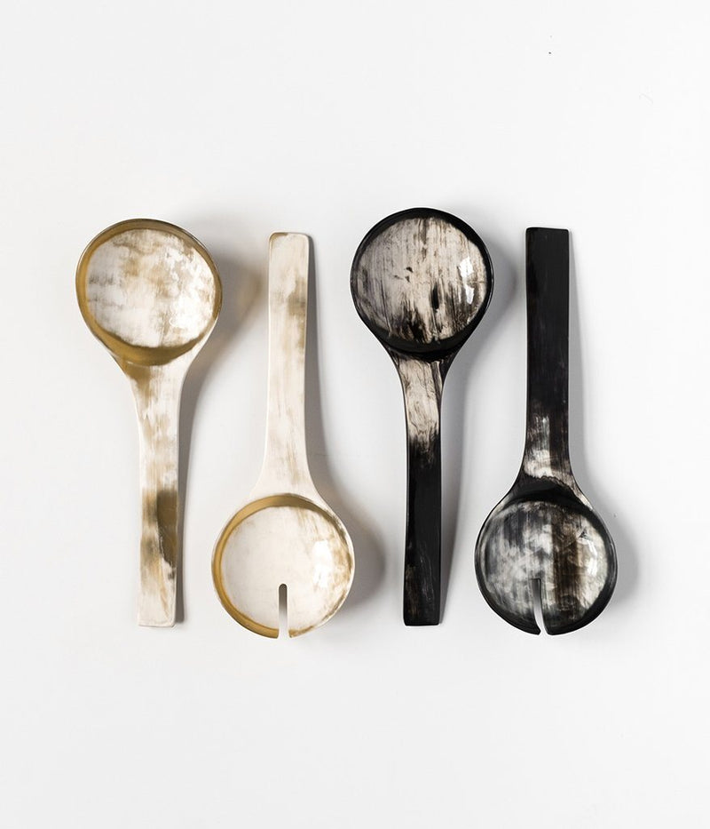 Rose & Fitzgerald Ankole Horn Serving Spoon Sets Rose & Fitzgerald