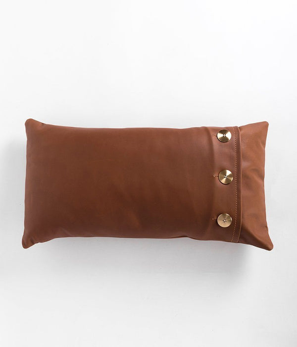 Rose & Fitzgerald Leather Safari Lumbar Pillow Rose & Fitzgerald