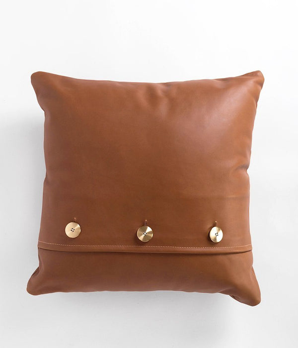 Rose & Fitzgerald Leather Safari Pillow Rose & Fitzgerald