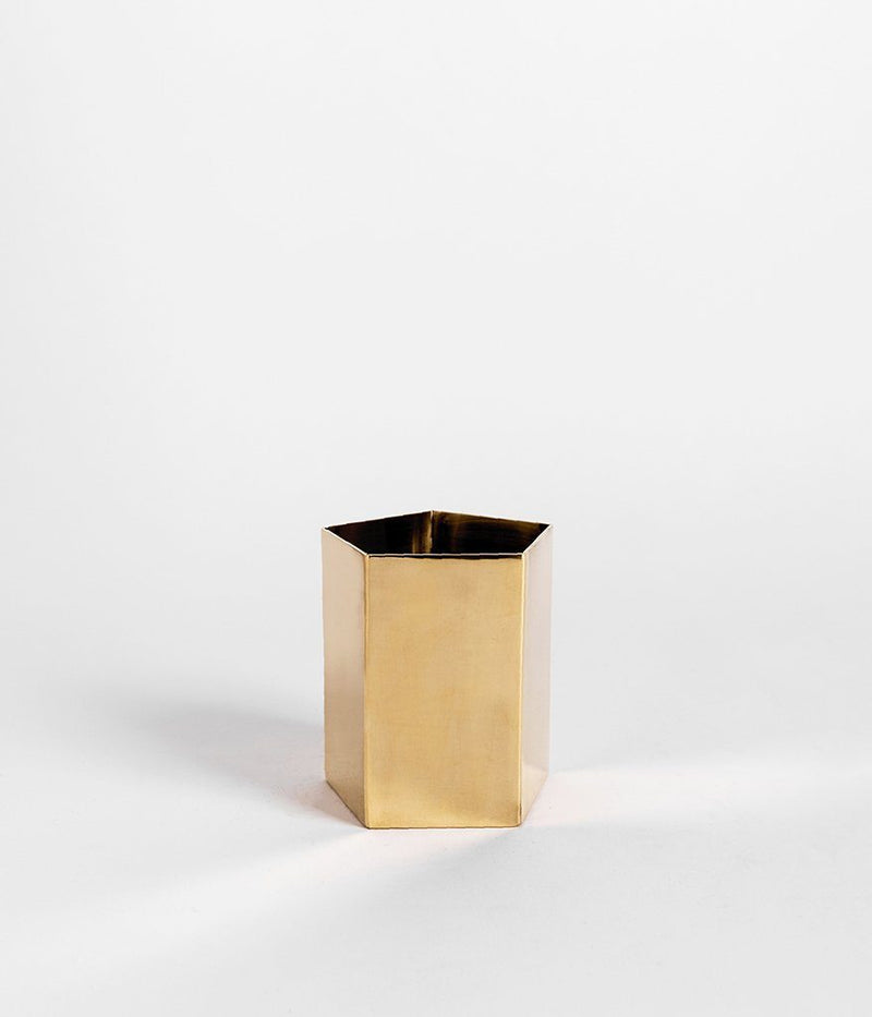 Rose & Fitzgerald Pure Brass Geometric Planter Rose & Fitzgerald