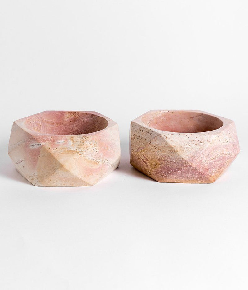 Rose & Fitzgerald Soapstone Geometric Tabletop Planter Rose & Fitzgerald