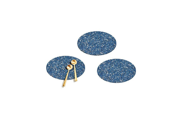 Round Recycled Rubber Trivets - Royal Kitchen and Dining Slash Objects Set of 3