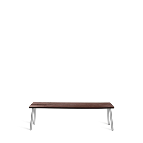 Run Bench - Aluminum Frame Furniture Emeco 3-Seat Walnut