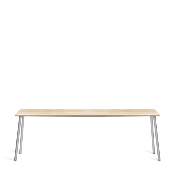"Run Side Table - Aluminum Frame Furniture Emeco 86"" Accoya"