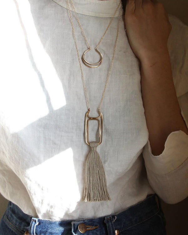 Salt + Still Oblong Necklace Salt + Still