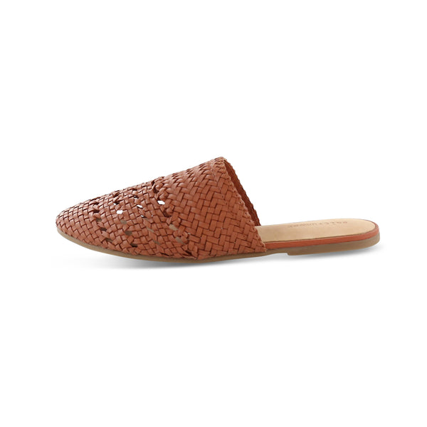Salt & Umber LILY handwoven mule in Terra Cotta footwear Salt & Umber