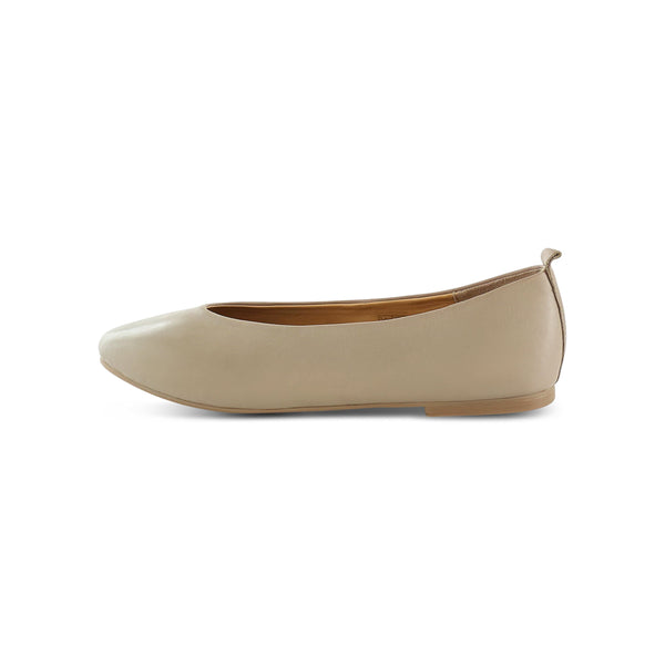 Salt & Umber Raja soft leather flat- Taupe footwear Salt & Umber