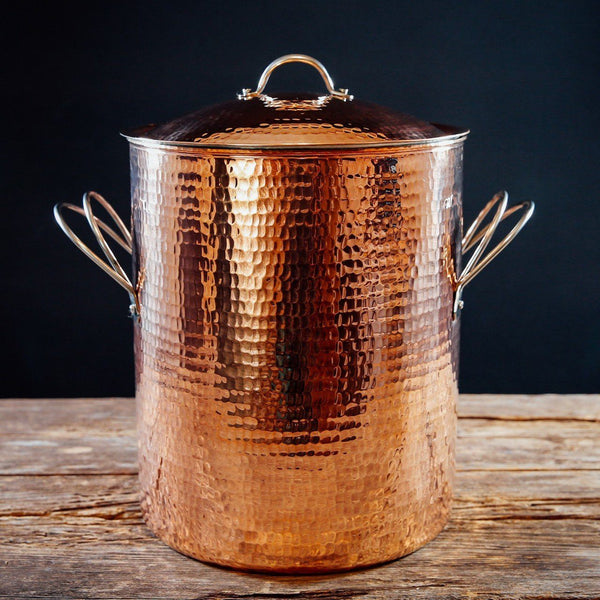 Sertodo Copper Big, Beautiful Stock Pots Sertodo Copper