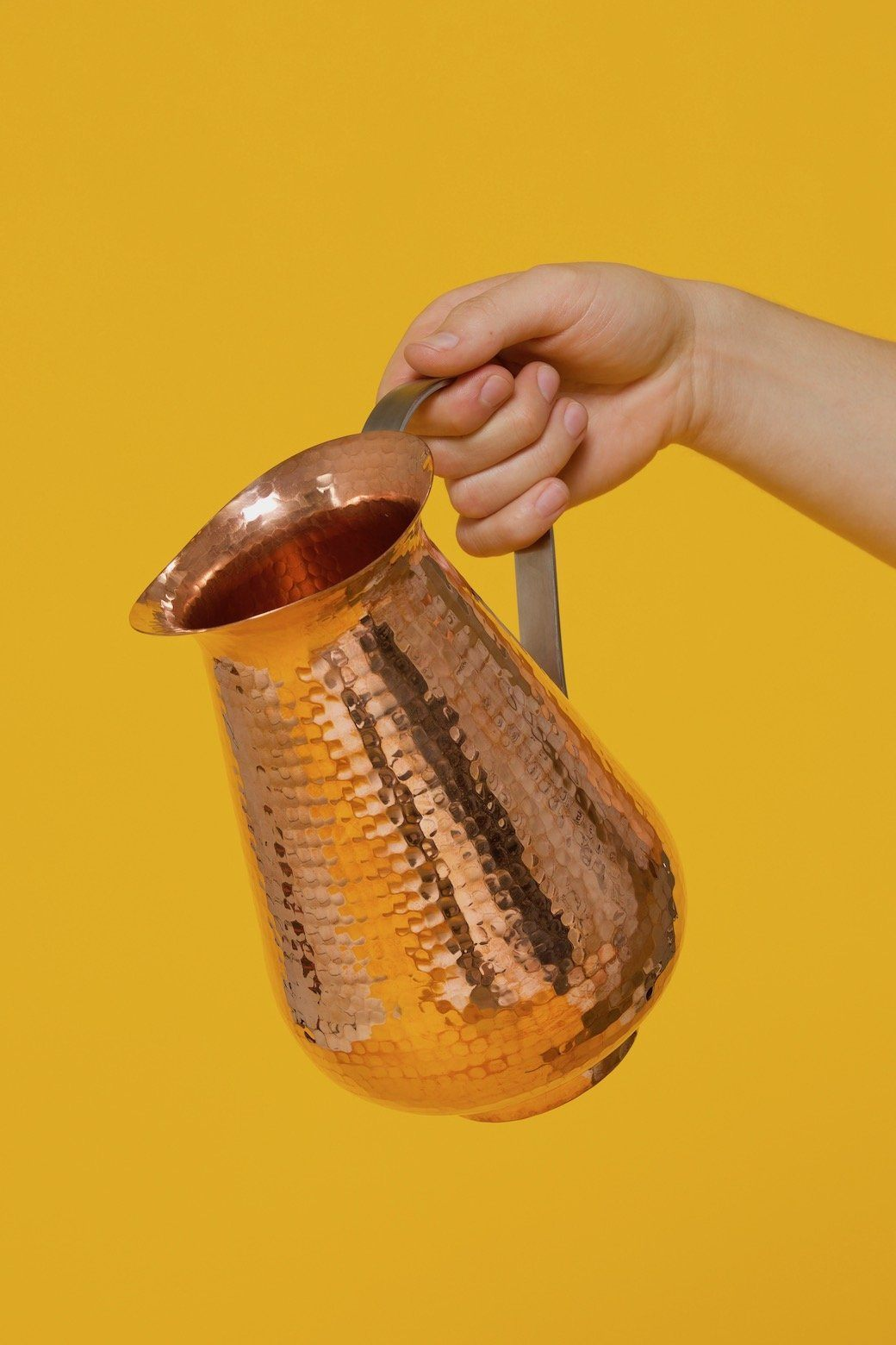 Sertodo Copper Bisotun Water Pitcher with Stainless Steel Handle Sertodo Copper