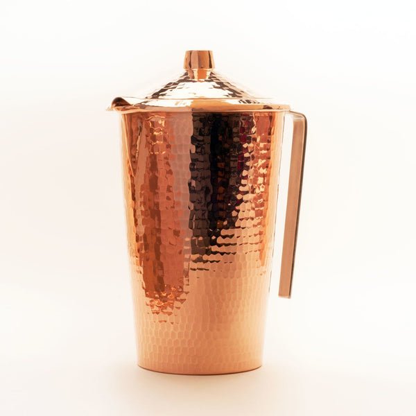 Sertodo Copper Gangotri Pitcher with Lid Kitchen and Dining Sertodo Copper
