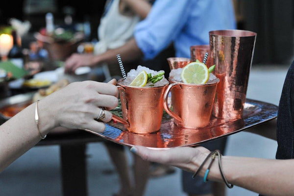 Sertodo Copper Service For Six Moscow Mule Mug Set Kitchen and Dining Sertodo Copper