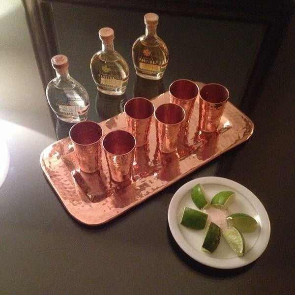 Sertodo Copper Tequilero Shot Cup Flight Set Kitchen and Dining Sertodo Copper