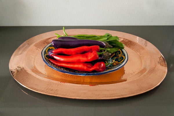 Sertodo Copper Thessaly Oval Platter Kitchen and Dining Sertodo Copper