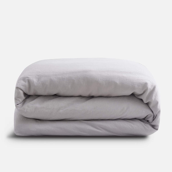 Sijo French Linen Duvet Cover - Fog French Linen Bedding Sijo