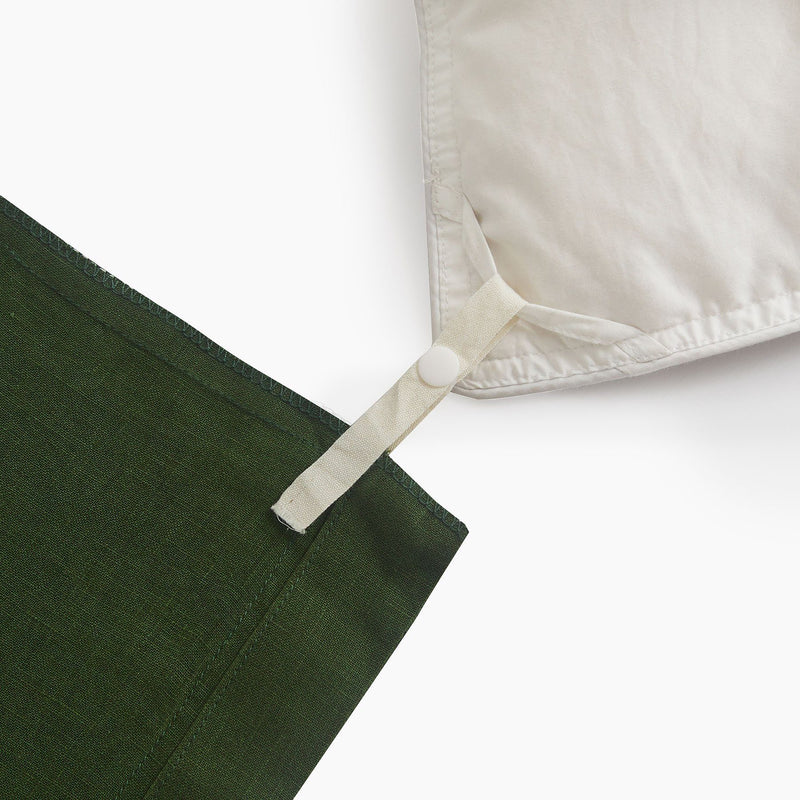 Sijo French Linen Duvet Cover - Forest French Linen Bedding Sijo