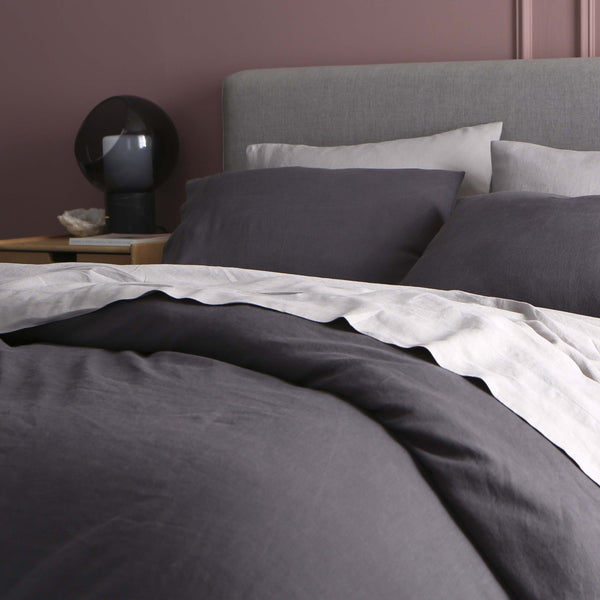 Sijo French Linen Duvet Cover - Slate French Linen Bedding Sijo