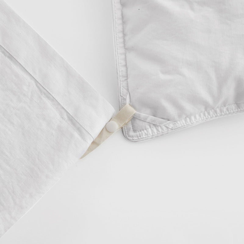 Sijo French Linen Duvet Cover - Snow French Linen Bedding Sijo