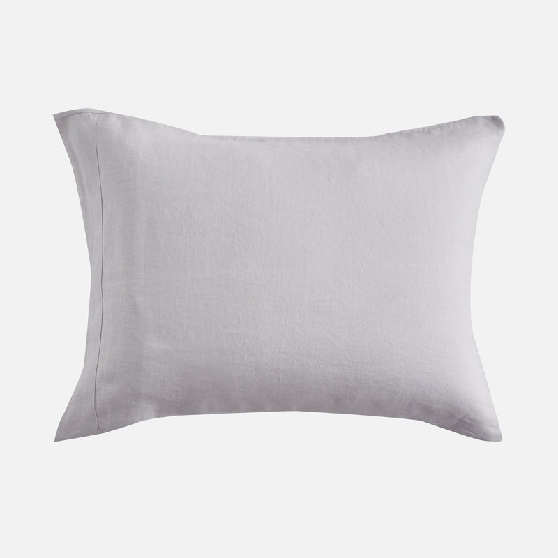 Sijo French Linen Pillowcase Set - Fog French Linen Bedding Sijo