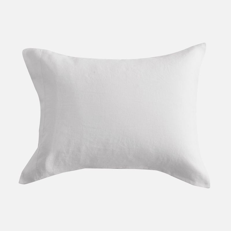 Sijo French Linen Pillowcase Set - Snow French Linen Bedding Sijo