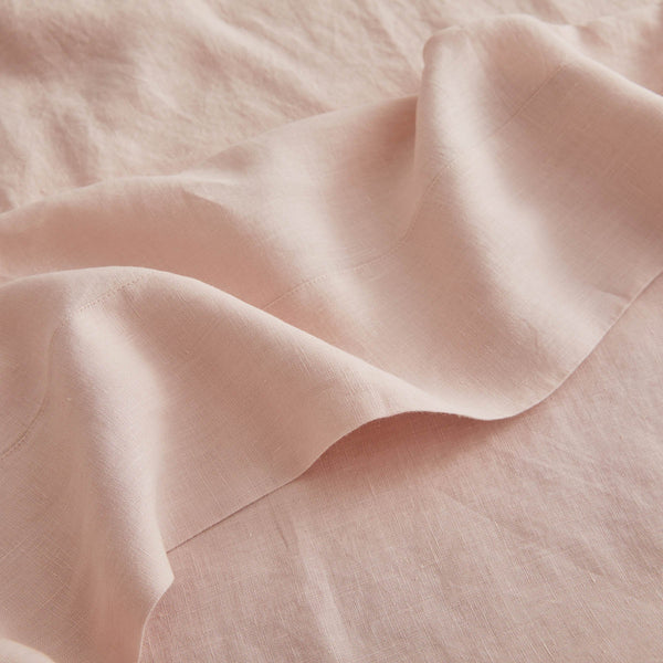 Sijo French Linen Sheet Set - Blush French Linen Bedding Sijo