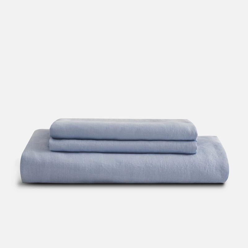 Sijo French Linen Sheet Set - Sky French Linen Bedding Sijo